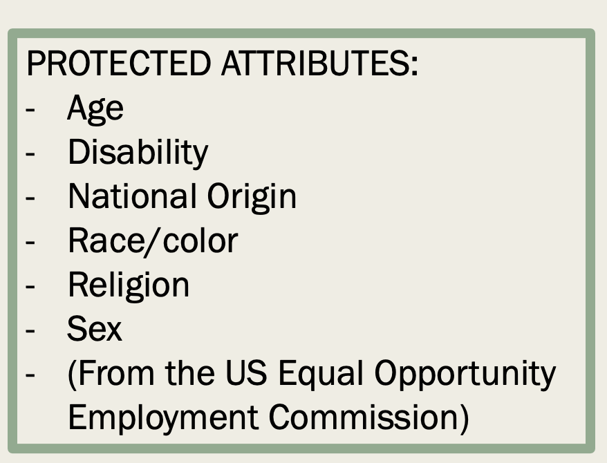 Protected Attributes